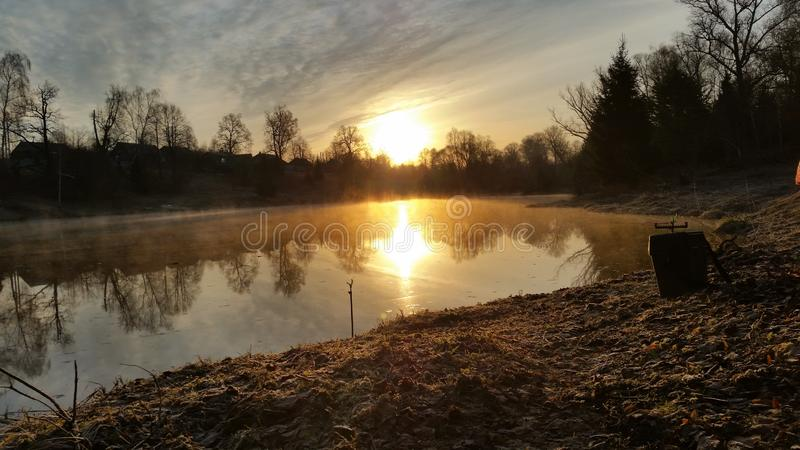 A cold morning away from the city set. royalty free stock photos