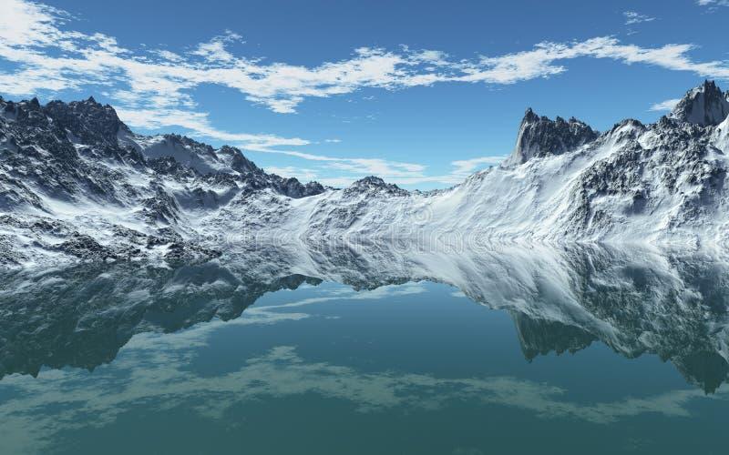 Download Cold Mountain Sea stock illustration. Image of glacier - 28032143