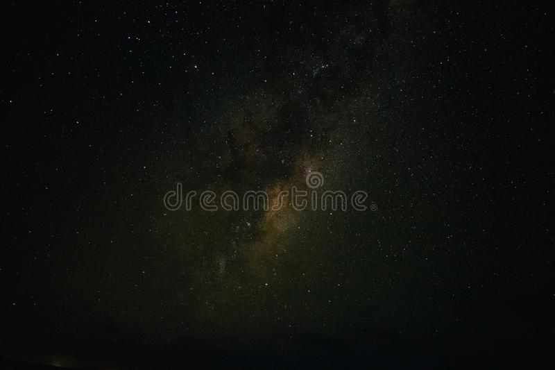 Milky Way In Melbourne Midnight Time stock photo