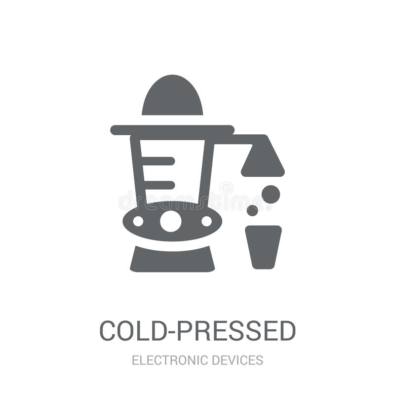 Cold-pressed juicer icon. Trendy Cold-pressed juicer logo concept on white background from Electronic Devices collection stock illustration