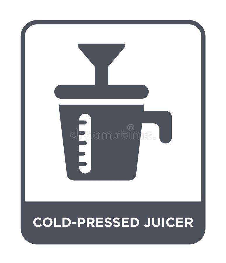 Cold-pressed juicer icon in trendy design style. cold-pressed juicer icon isolated on white background. cold-pressed juicer vector. Icon simple and modern flat stock illustration