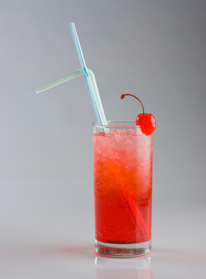 Cold red cocktail