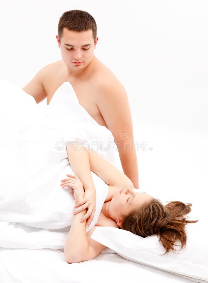 Download Cold Relation Between Couple In Bed Stock Photo - Image: 21273006