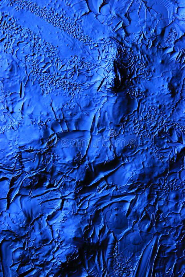 Cold relief. Blue ice texture cold relief stock image