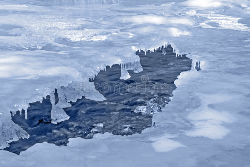 Cold river royalty free stock images