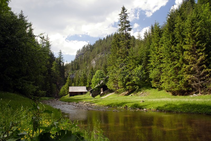 Download A Cold River At Green Valley Stock Image - Image: 2614605