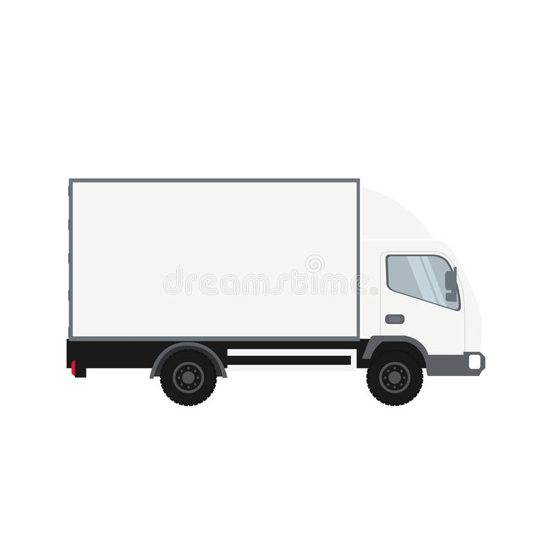 Cold room truck. Heavy transport vehicle stock illustration