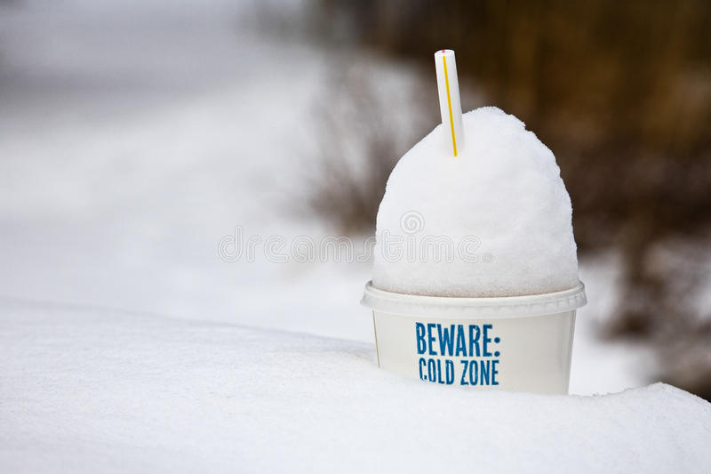 Download Cold Snowy Outdoor Winter Park Litter Stock Photo - Image: 12451684