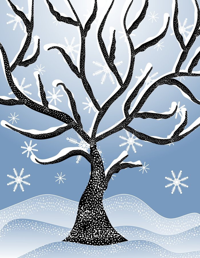Free Cold Snowy Winter Tree Scene 2 Royalty Free Stock Images - 3567869