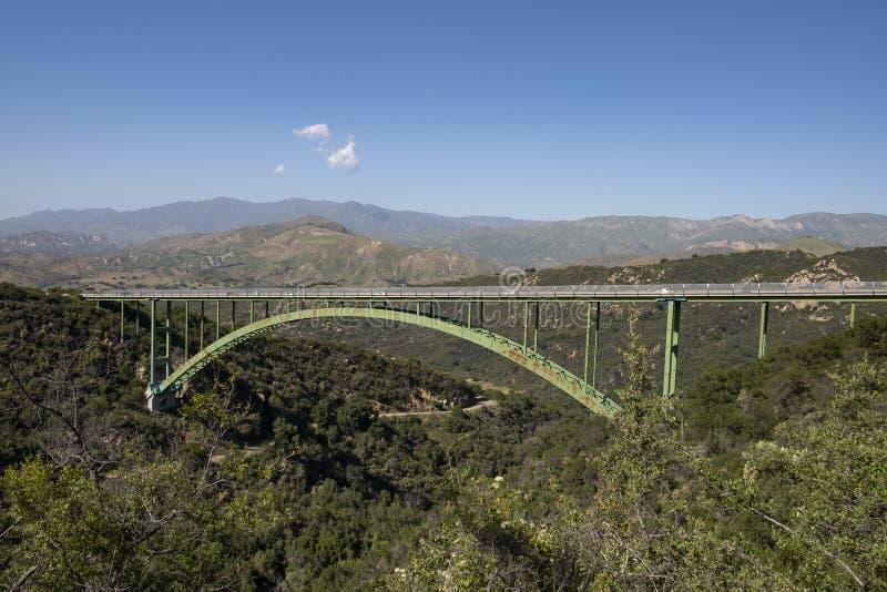 Cold Springs Bridge in Southern California near Santa Barbara royalty free stock photos