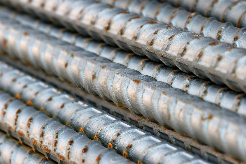 Cold steel. Bars - abstract macro with shallow depth of field stock photos