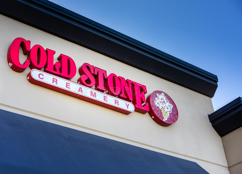 Cold Stone Creamery. Ice cream shop stock photos