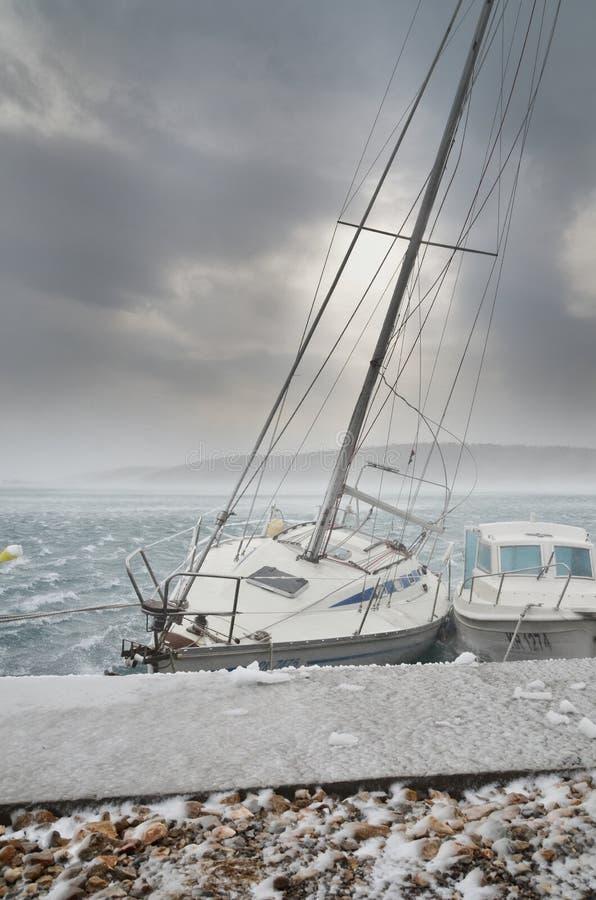 Cold storm stock photos