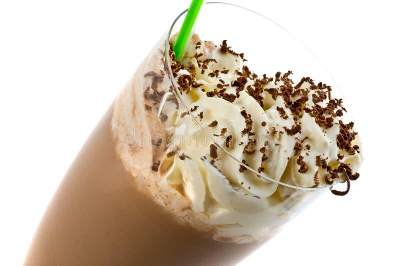 Cold and sweet milkshake stock photography