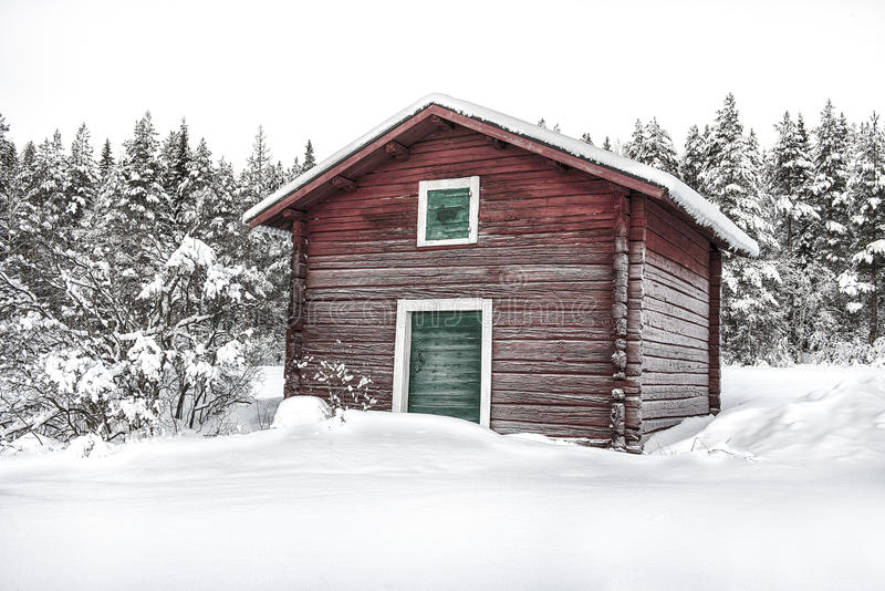 Cold timber royalty free stock photos