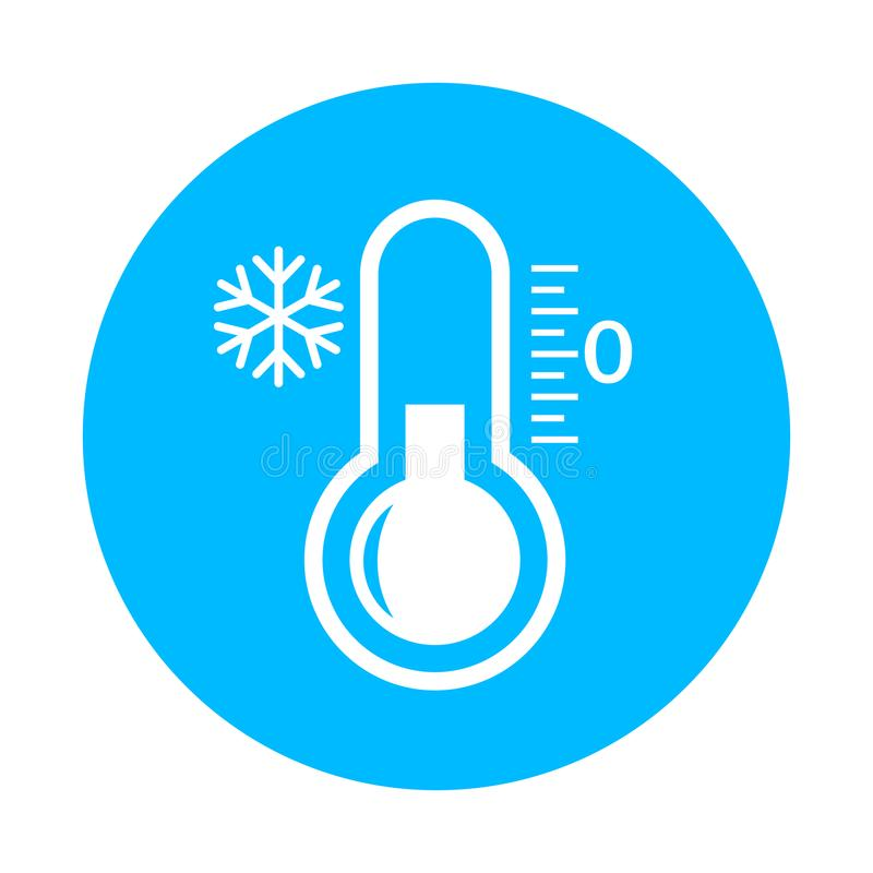 Cold vector icon. Isolated on white background stock illustration