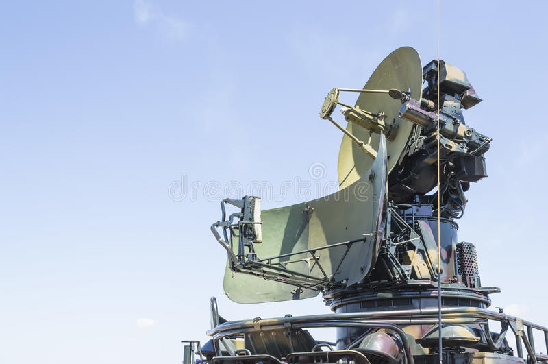 Cold war military radar. Military radar from cold war era, side view stock photography