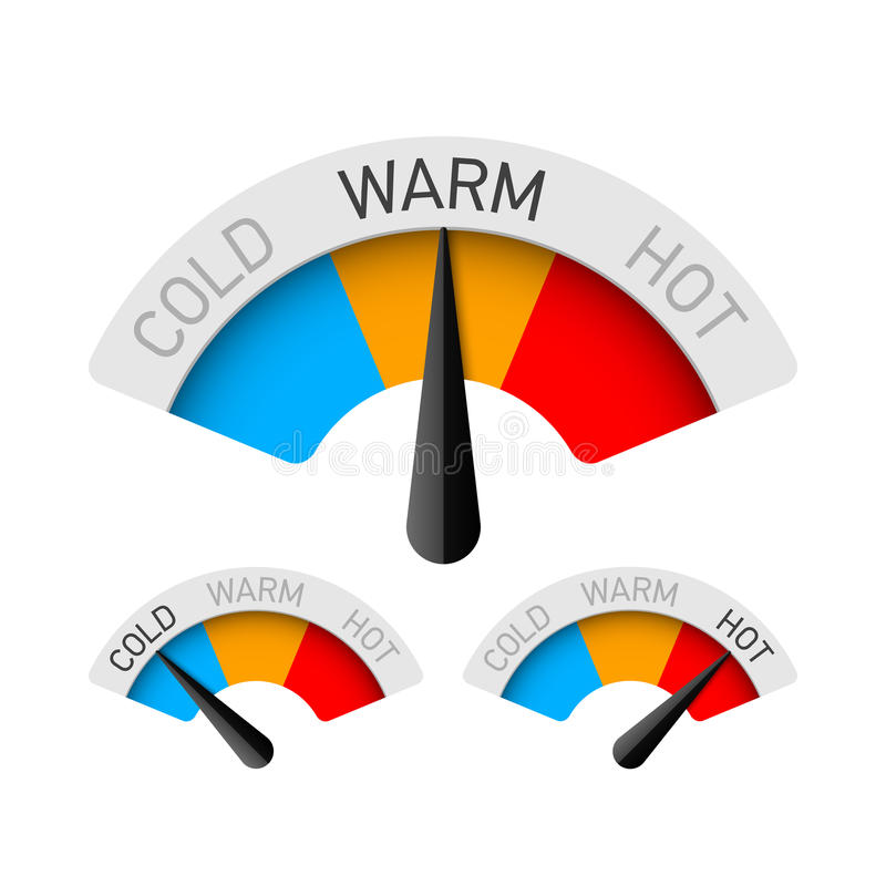 Free Cold, Warm And Hot Temperature Gauge Stock Photos - 84701233