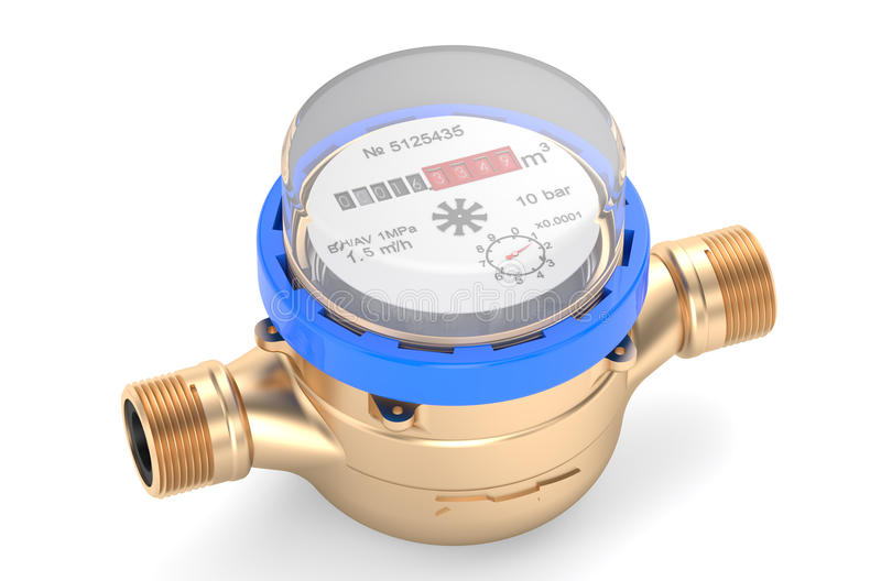 Cold water meters stock illustration