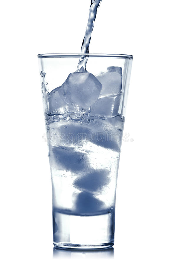 Cold Water Pouring royalty free stock photography