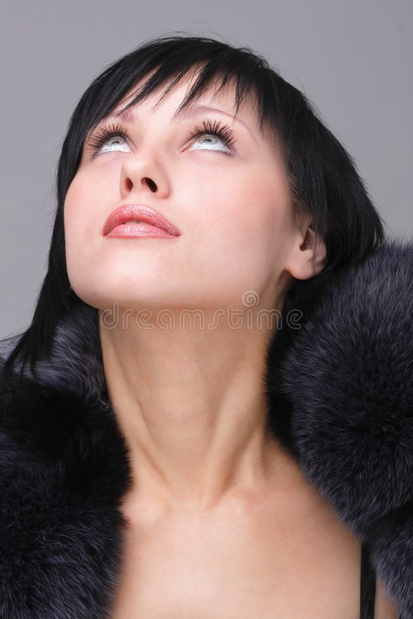 Cold weather fashion stock photo
