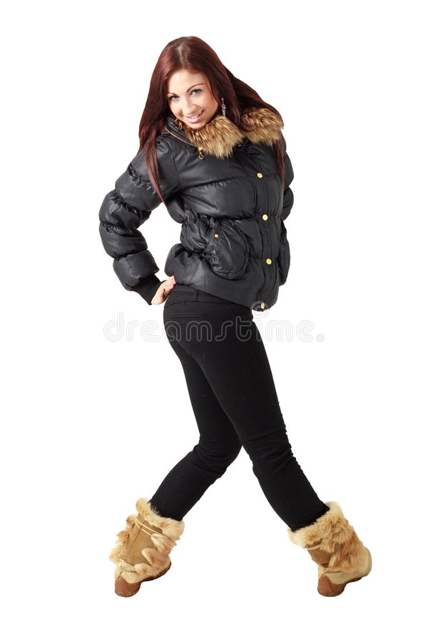 Cold weather fashion royalty free stock photography