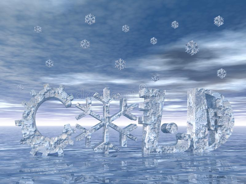 Download Cold weather and snow stock illustration. Image of cold - 23313130