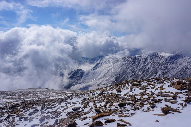 Cold Winter Day in Rocky Mountain National Park royalty free stock photos