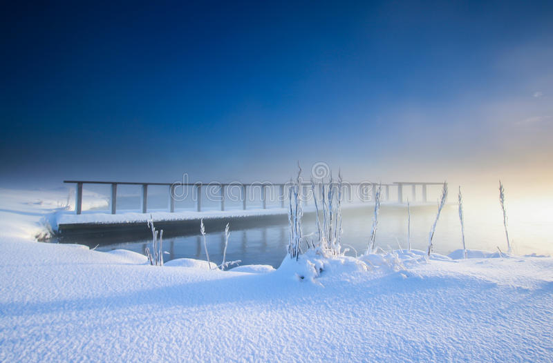 Download Cold winter day in Iceland stock image. Image of bridge - 31243587