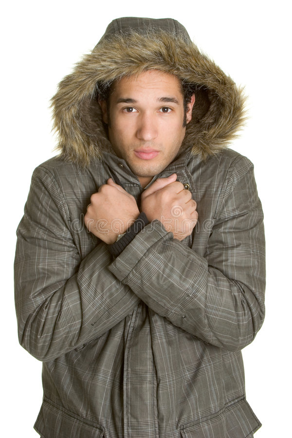 Cold Winter Man Stock Images