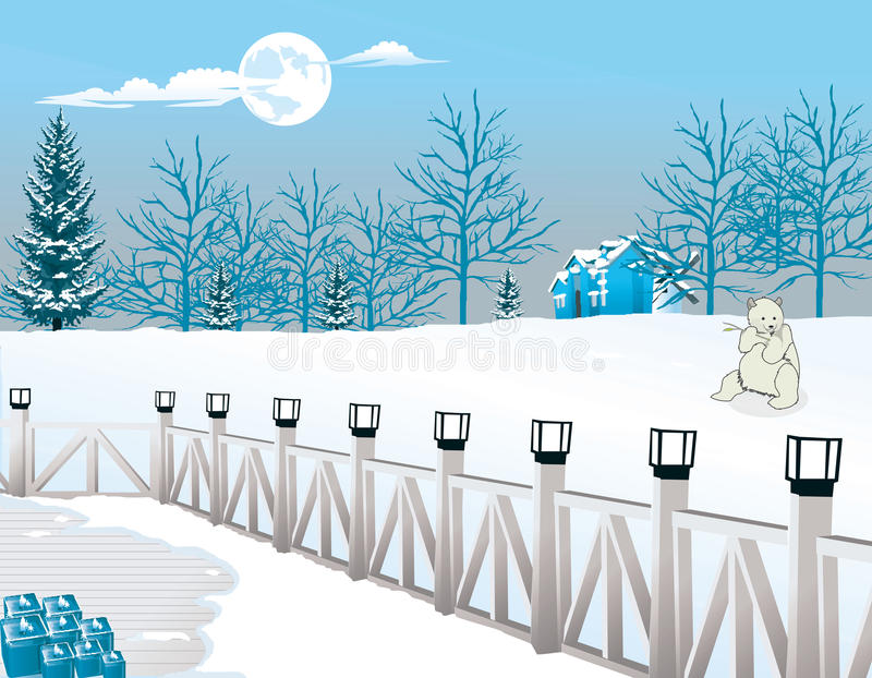 Download Cold Winter Night, Illustration Royalty Free Stock Image - Image: 25965966