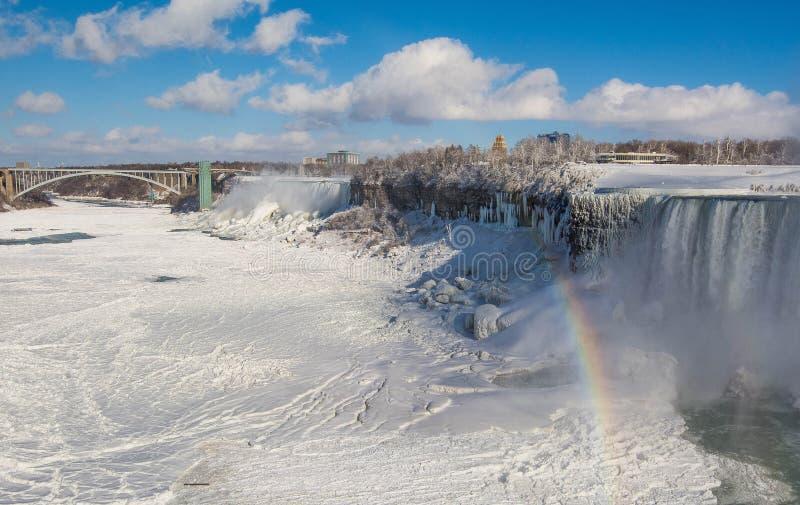 Winter view of Niagara Falls royalty free stock image