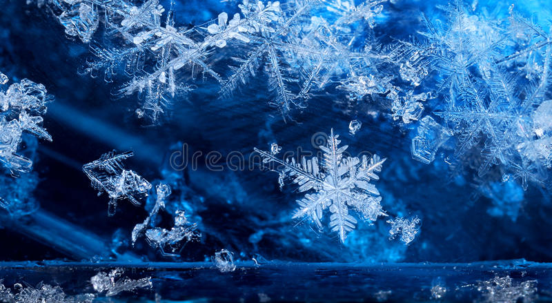 Download Cold Winter Season Ice Crystal Snow Flakes Stock Photo - Image: 83708464
