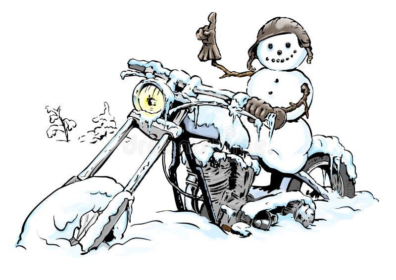 Download ColdBiker stock illustration. Illustration of motor, snow - 25963685