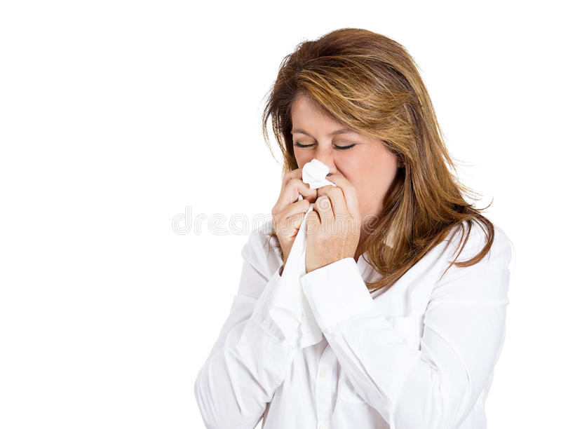 Colds and allergies stock images