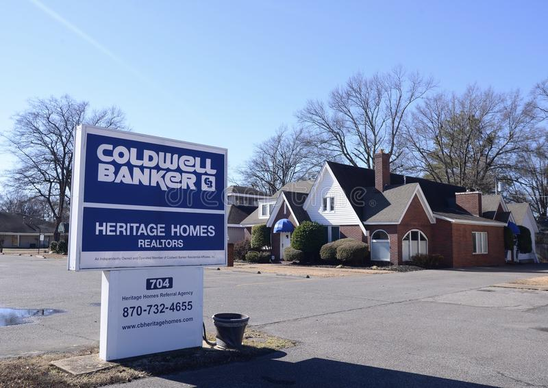 Coldwell Bank Real Estate Company Sign stock photos