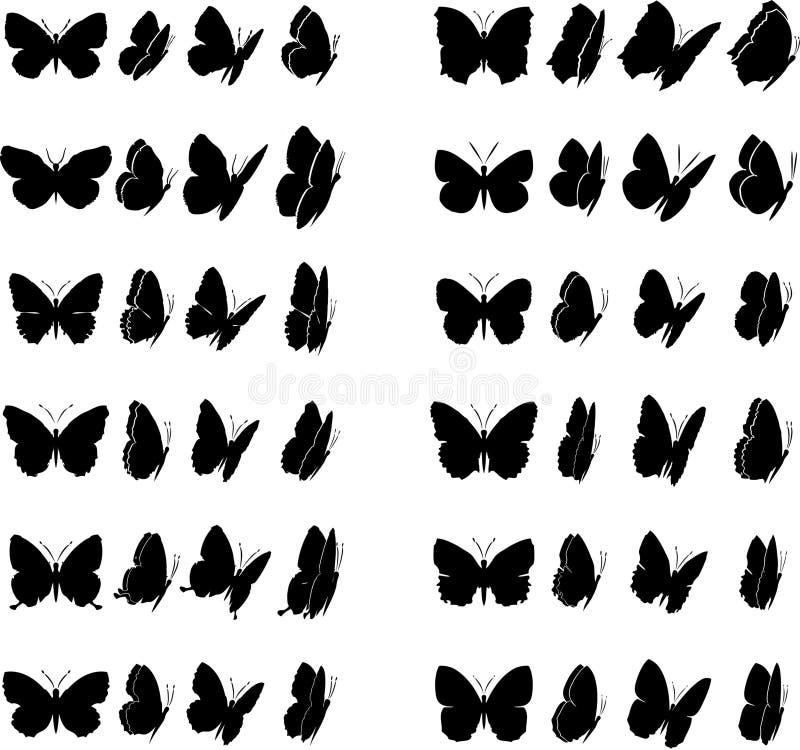 Coleção 1 da borboleta ilustração royalty free