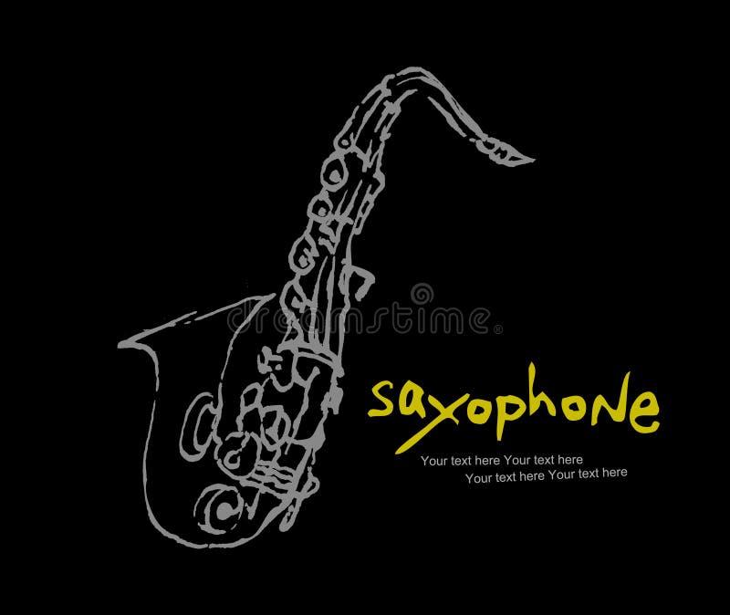 Coleção -1 dos instrumentos: Saxofone ilustração royalty free