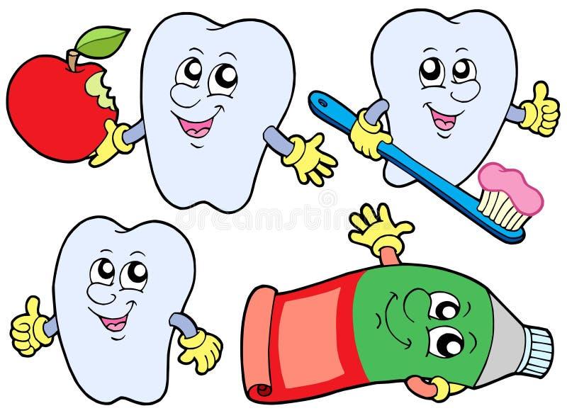 Coleção 2 do dente ilustração stock