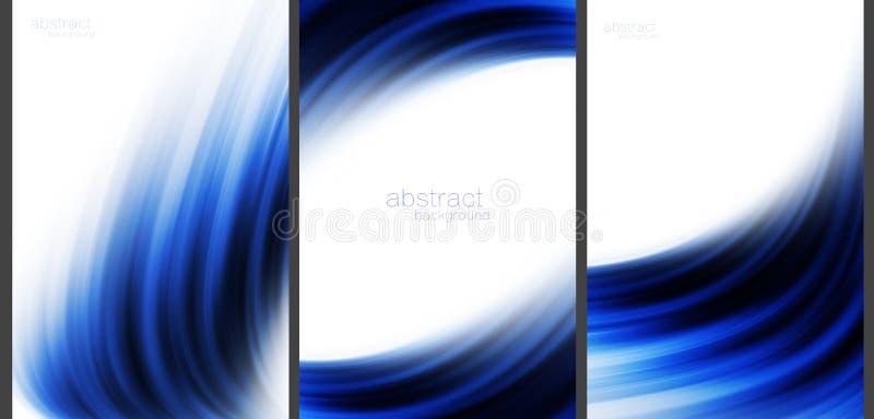 Coleção abstrata azul do de alta tecnologia do fundo ilustração stock