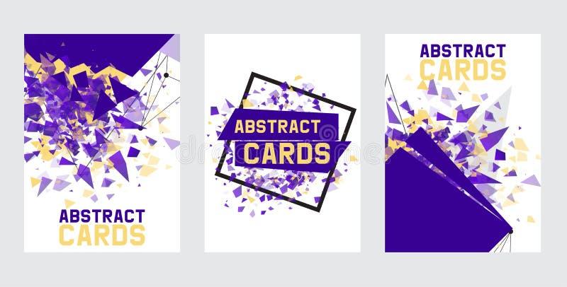 Coleção abstrata das bandeiras, cartões, ilustração do vetor dos cartazes Projeto de Minimalistic, conceito criativo, moderno ilustração royalty free