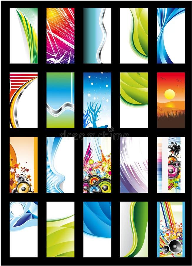 Coleção abstrata do cartão do fundo - jogo 2 ilustração do vetor