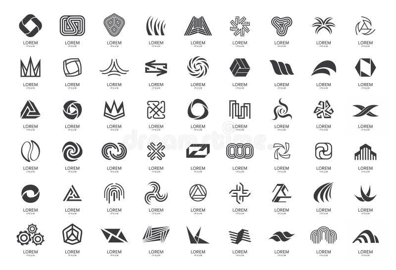 Coleção abstrata dos logotipos fotografia de stock