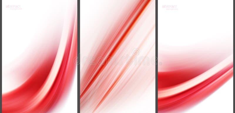 Coleção abstrata vermelha do de alta tecnologia do fundo ilustração do vetor