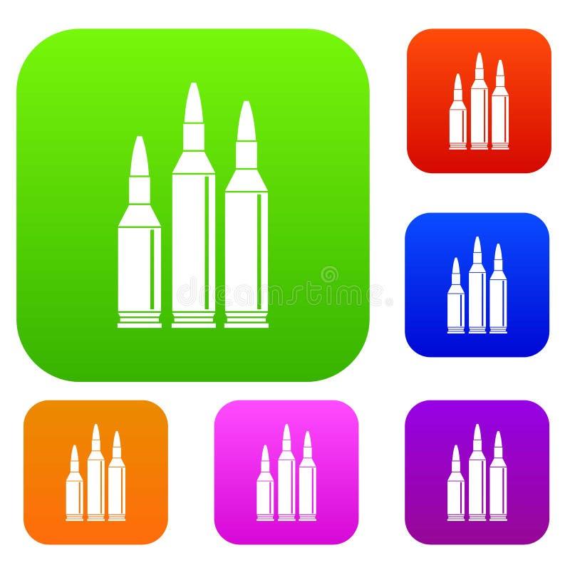 Coleção ajustada da munição da bala ilustração royalty free