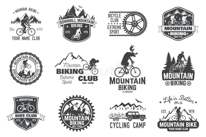 Coleção biking da montanha Ilustração do vetor ilustração royalty free