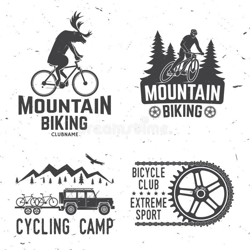 Coleção biking da montanha Ilustração do vetor ilustração stock