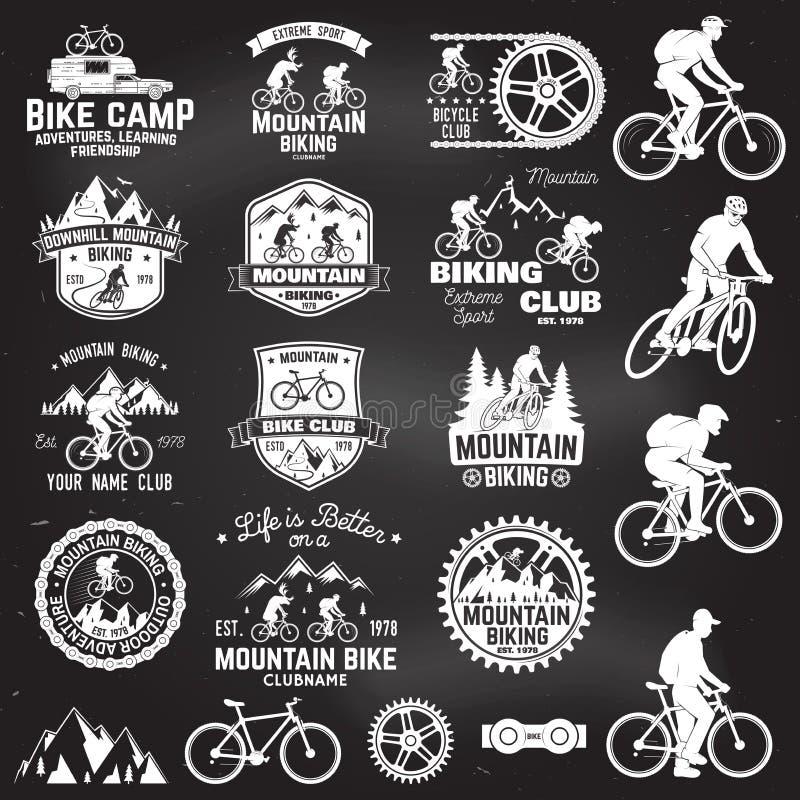 Coleção biking da montanha Ilustração do vetor ilustração do vetor