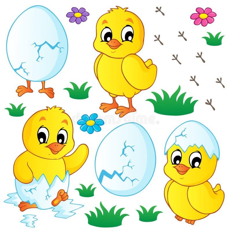 Coleção bonito das galinhas ilustração royalty free