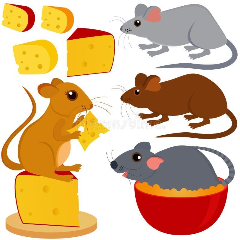 Coleção bonito do vetor do rato do rato